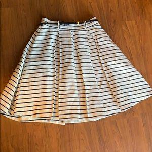 ♠️ Kate spade skirt 6 linen cotton pockets striped